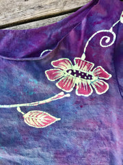 Flower Power Purple Crop Top Batikwalla by Victoria