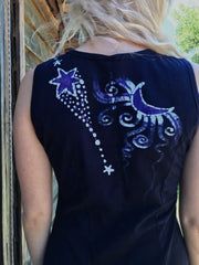 Stargazer Serene In Midnight Blue Batik Summer Dress Batik Dresses Batikwalla