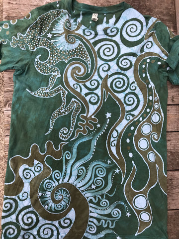 Daydreaming at Main Stage 90's Throwback Cotton Batik T-shirt - Size 2X LONG