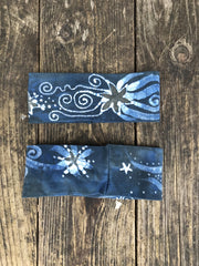 Blue Sage Fold Over Headband - by Batikwalla Batikwalla by Victoria