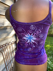 Nature Provides Purple Batikwalla Tank Top Tops batikwalla