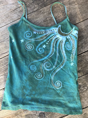 Aqua Moonbeams Yoga Camisole Tops batikwalla Large