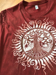 Red Roots Tree of Life Organic Tshirt - Size XL