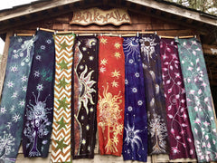 Mystic Mountain Hand Painted Organic Cotton Batik Scarf