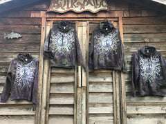 Sage Goddess Purple Tree Of Life Pullover Batik Hoodie - Handcrafted In Organic Cotton hoodie batikwalla 2X