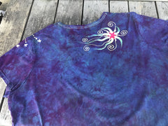 Sunset Moonbeams Handmade Batik Tee - Plus Size - 5X