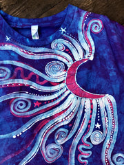 Blue Skies Blue Moonbeams Organic Batik Tshirt