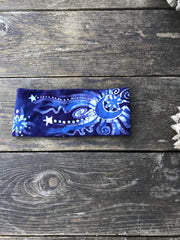 Fold Over Stellar Handmade Headband - by Batikwalla Batikwalla by Victoria blue moon rising