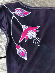 Fuchsias Are Beautiful And Bring Life Handmade Batik Stretchy Tee