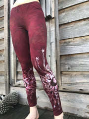 Red Earth Om Batik Leggings