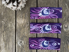 Magenta Moon Fold Over Batik Headband - by Batikwalla Batikwalla by Victoria