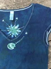 Teal and Moss Green Mini Moonbeams Summer Tee