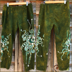 Dancing Green Batik CAPRI Leggings leggings batikwalla XL