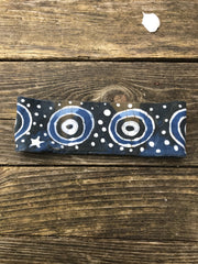Fold Over Stellar Handmade Headband - by Batikwalla Batikwalla by Victoria wild blueberries