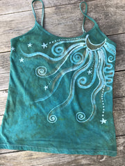 Aqua Moonbeams Yoga Camisole Tops batikwalla OX