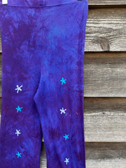 Purple Galaxy Crazy Stars PURE Cotton Batik Leggings leggings batikwalla