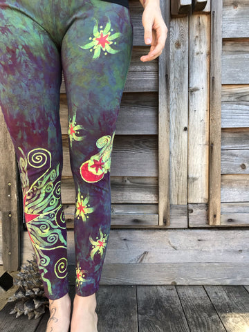Sunrise Moon and Stars Batik Yoga Leggings