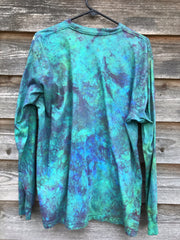 God's Rays Are In The Garden Long Sleeve Batik Tshirt - Size XL