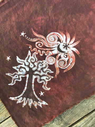 Red Tree Batik Bandana