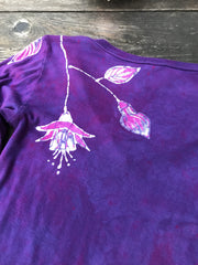 Pink Fuchsias Are Surprising Batik Long Sleeve Vneck