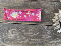 Stellar Handmade Headband - Authentic Batik Batikwalla by Victoria pink lemon sunshine