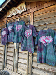 Tourmaline Heart Tree - Hand Crafted Batik Tshirt Batikwalla by Victoria