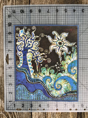 Trinidad Batik Fabric Print Patch
