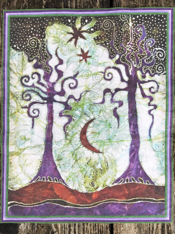 Two Trees Batik Fabric Print