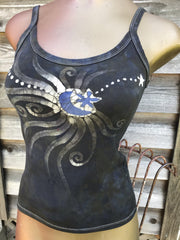 Mink and Lavender Moonbeams Batikwalla Tank Top Tops batikwalla