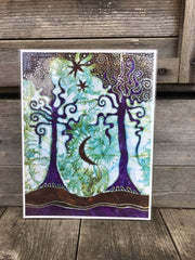 Two Trees Batik Canvas Print 8.5 x 11 Creative Ideas batikwalla