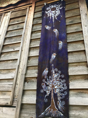 Wildwood Forest Hand Painted Organic Cotton Batik Scarf