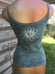 Aqua Mint Moonbeams Batikwalla Tank Top Tops batikwalla