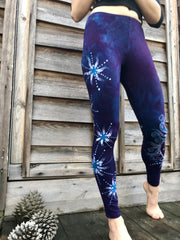 Blue Sky Peeks Through Swirling Yoga Leggings