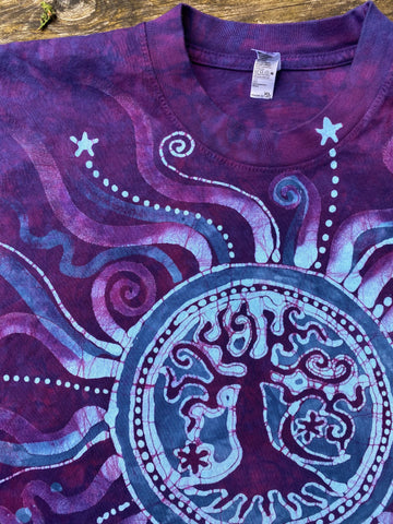 Tree of Life in Mellow Magenta - Batikwalla Hand-painted Batik Tshirt