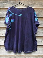 Flowers Bring Natural Joy Vneck Tee - Plus Size 5X