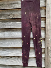Galloping Into The Wilderness PURE Cotton Batik Leggings leggings batikwalla