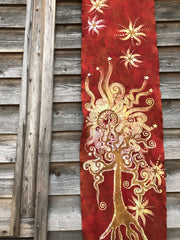 Warmth Of The Sun Hand Painted Organic Cotton Batik Scarf