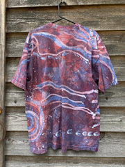 Earth and Sky Purely Intuitive Cotton Batik T-shirt - Size XL Tshirts batikwalla
