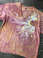 Sunshine Day At The Beach Vneck Tee Batikwalla by Victoria Large
