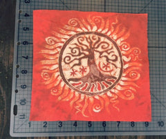 Red Tree of Life Batik Print Patch - Batikwalla   - 3