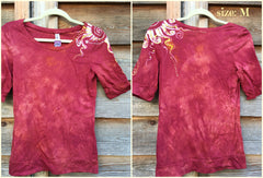 Soft Red Shoulder Swirls Sale Basket Top - Batikwalla   - 8