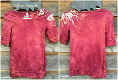 Soft Red Shoulder Swirls Sale Basket Top - Batikwalla   - 9