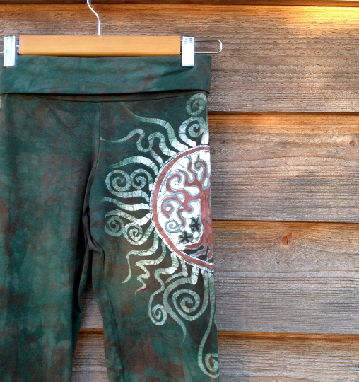 Sage Tree of Life Batik Yoga Pants - Batikwalla   - 1