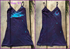 Deep Blue and Purple Batik Sun Long Cotton Camisole - Batikwalla   - 3