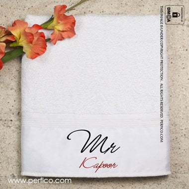 Mr. and Mrs. Personalized Towel