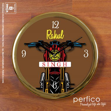 Born to Ride Round Wall Clock