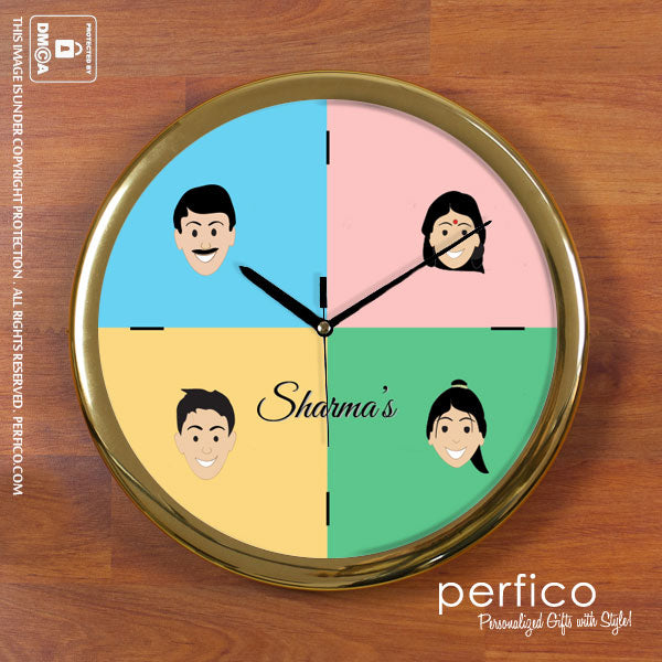 Characters - Personalized Round Wall Clock