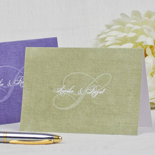 Classic Monogram - Personalized Greeting Cards