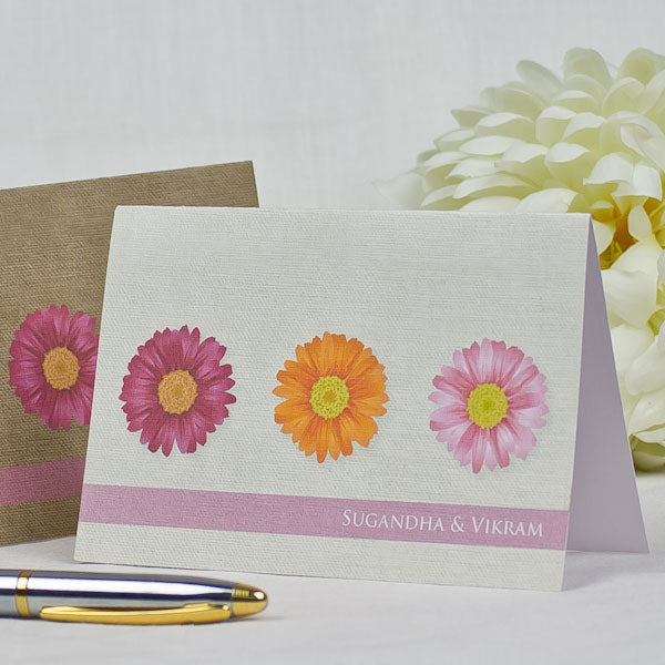 Daisies Monogram - Personalized Friendship Day Greeting Cards