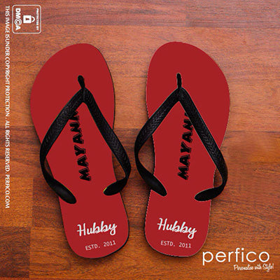 Hubby © Personalized Flip Flops for Husband